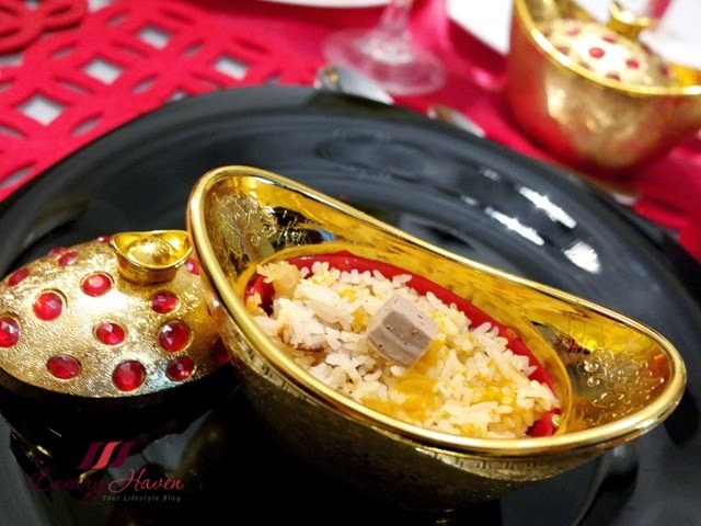 chinese new year golden treasure pot pumpkin rice