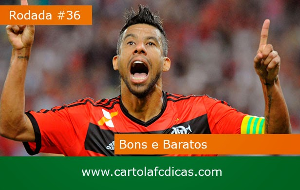 Confira Os Bons e Baratos da 36ª rodada do CartolaFC.