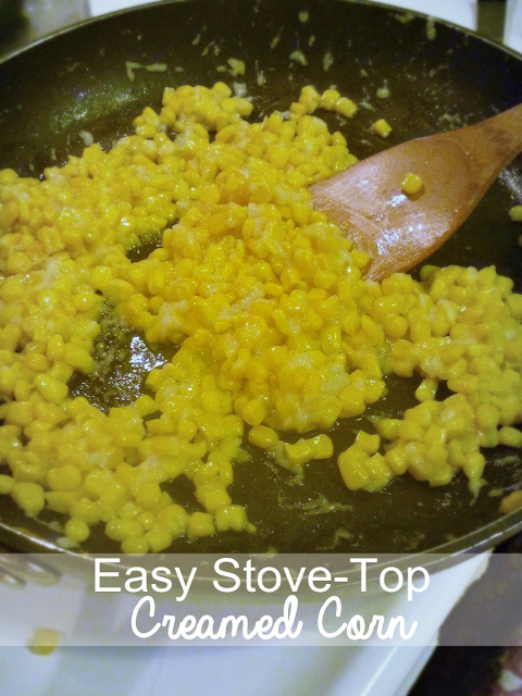 Easy Stove-Top Creamed Corn | Shiloh's Taste  #corn #Thanksgiving #easy