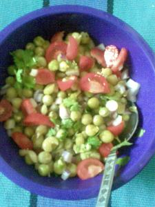 dried green peas  for breakfast