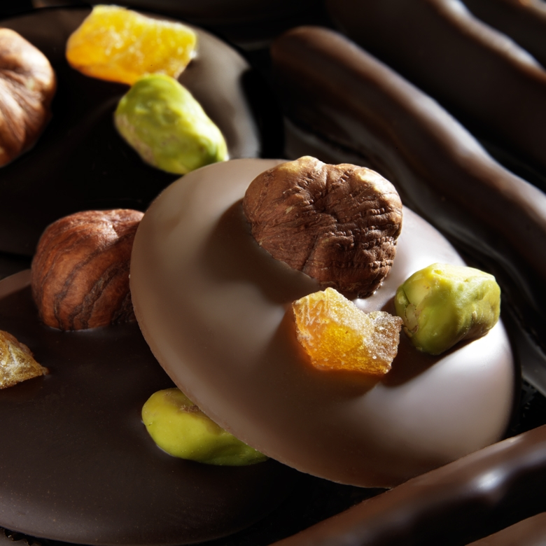 blog 75 recettes chocolats mendiants au chocolat noir. Black Bedroom Furniture Sets. Home Design Ideas
