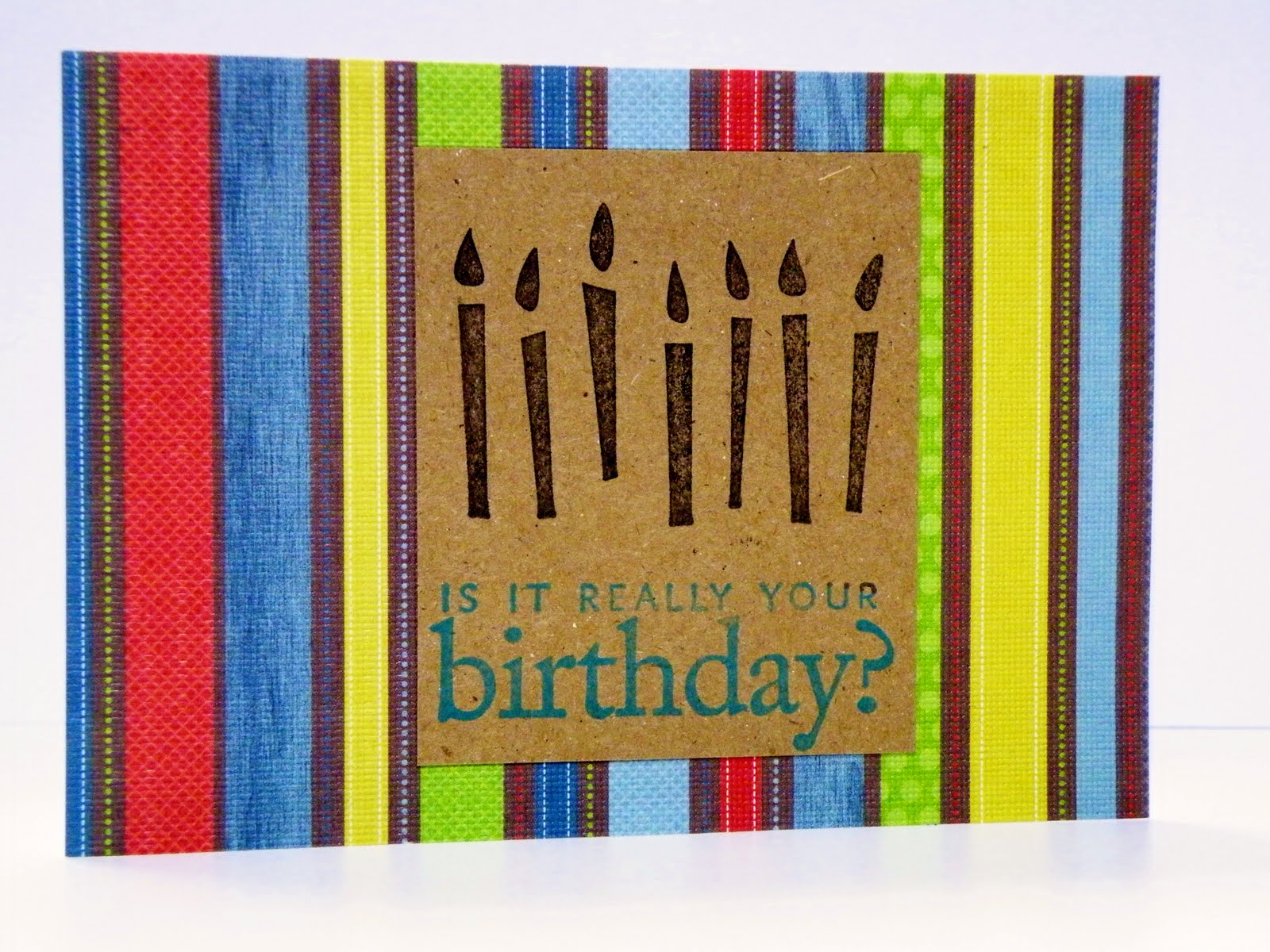 Birthday Cards Brother In Law ~ The crafty housewife: brother in laws birthday card!