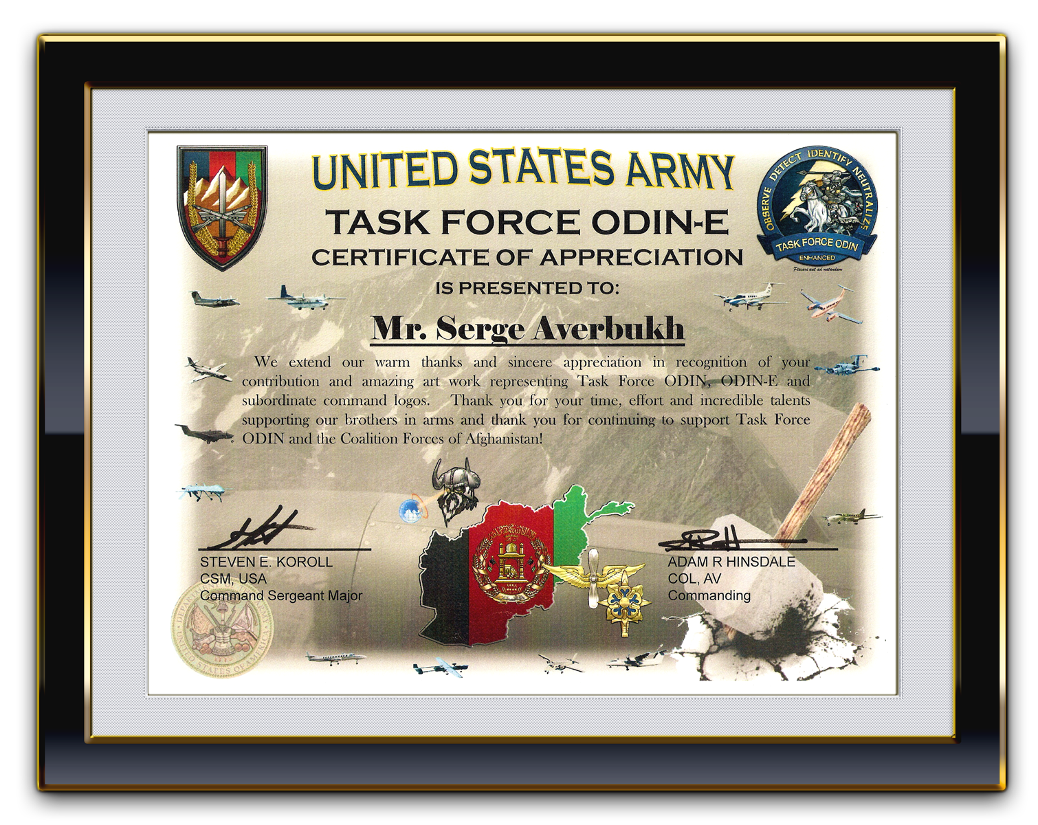 Military certificate of appreciation template choice image army certificate of appreciation template army certificate of appreciation template the awesome certificate of alramifo choice xflitez Image collections