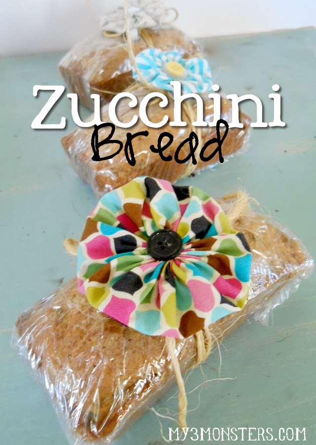 Zucchini Bread recipe at my3monsters.com
