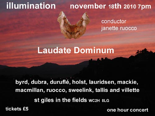 Concert flyer from 'Laudate Dominum'