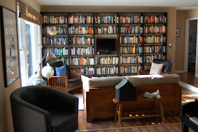 Many Of The Walls Forever Home Are Lined In Billy Bookcases From Our Lady IKEA Above Is An Example How It Turned Out
