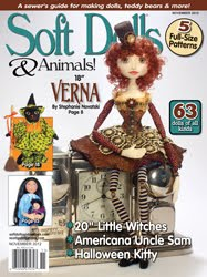 My Uncle Sam pattern and Sweetness published in Soft Dolls and Animals, November 2012