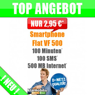 Smart Flat VF 500 - Nur 2,95 Euro/Monat