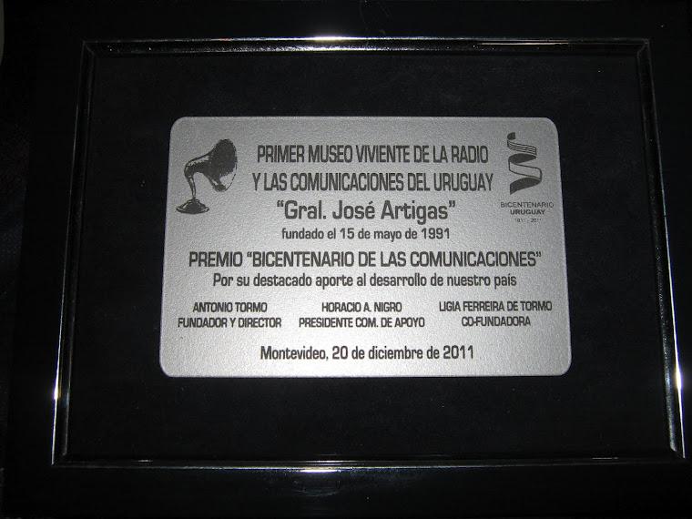 """Premio """"Bicentenario de las Comunicaciones"""" - 20 de diciembre de 2011"""