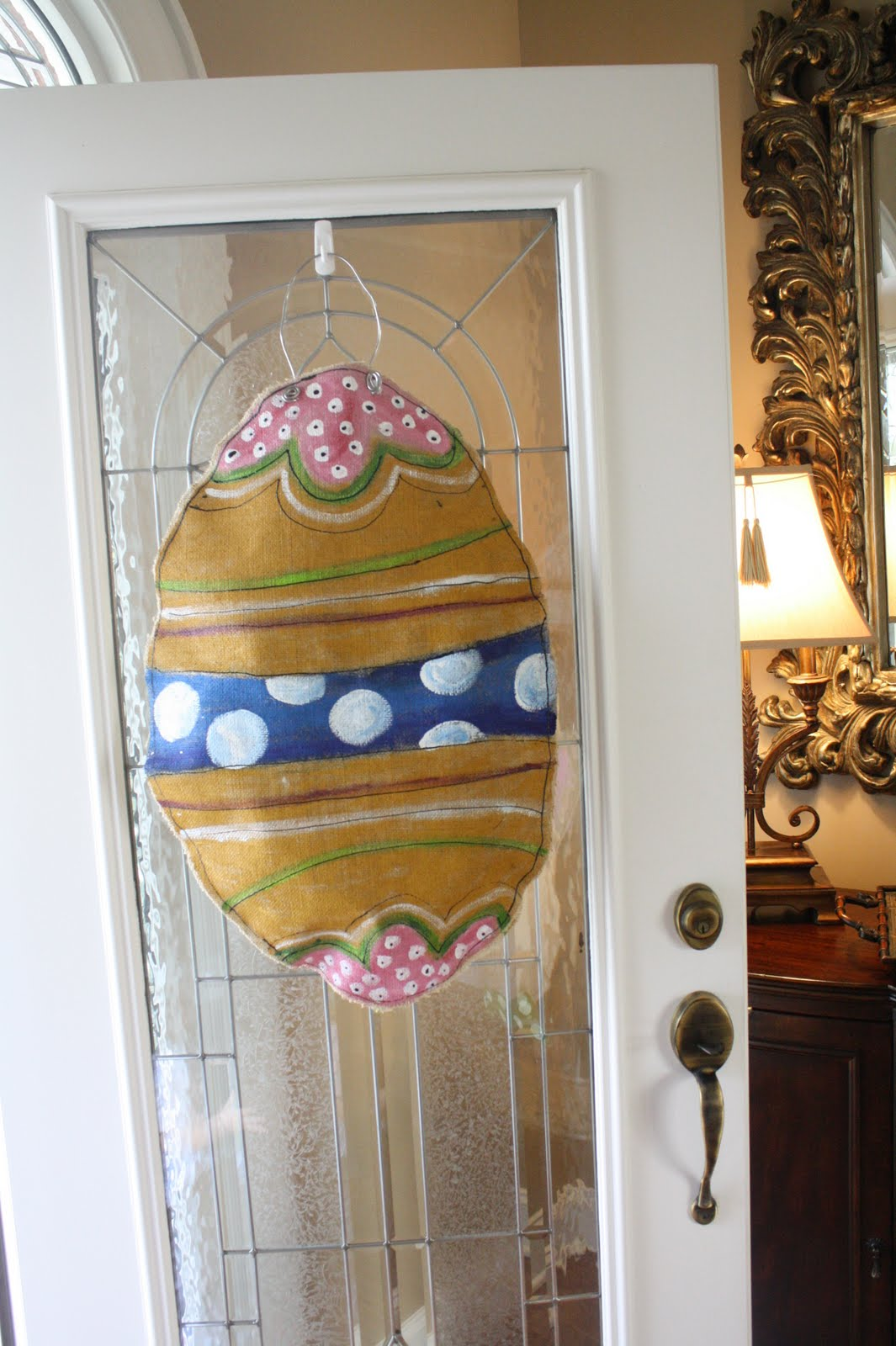 Party of tew easter door decor