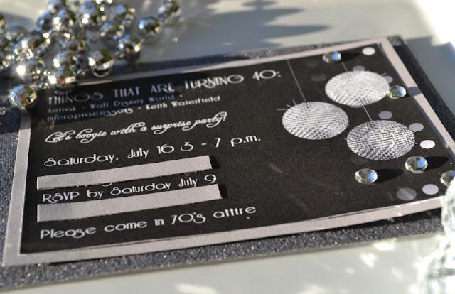 70's Disco invite
