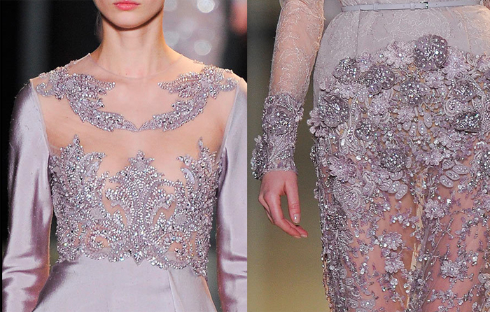 Haute couture spring 2013 elie saab love at first blush for Haute couture details