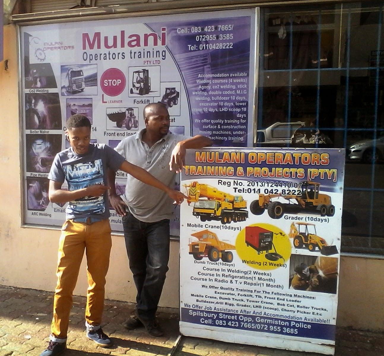 Mulani Operatorswelding Training School27731582436 May 2015