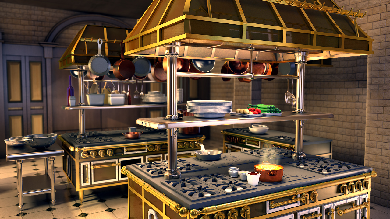 Lighting Challenge 29 Pixar Tribute Gusteau S Kitchen