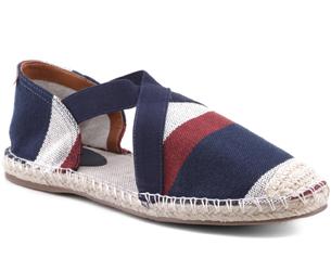 Calçados Anacapri coleção de verão espadrille com listras