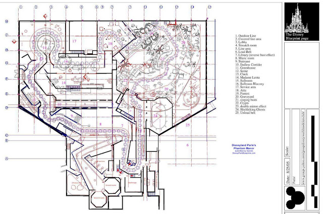 Disney Park Blueprints Phantom Manor Disneyland Paris