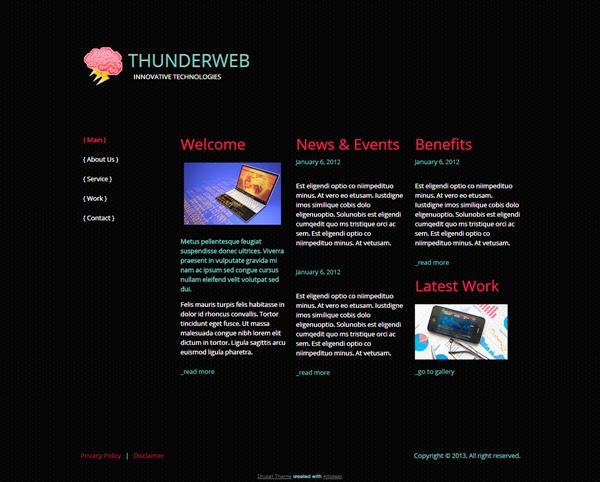 Thunder Web - Free Drupal Theme