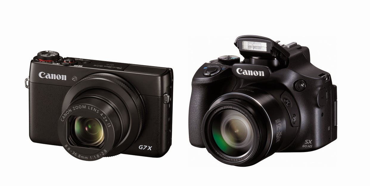 Canon PowerShot G7 X, compact premium camera, Canon PowerShot SX60 HS, New Canon Camera, Full HD video, Wi-Fi, NFC connectivity