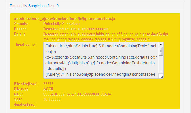 9 web pages detected containing malicious JavaScript