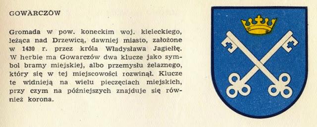 M. Gumowski, Herby miast polskich, Warszawa 1960, s. 177