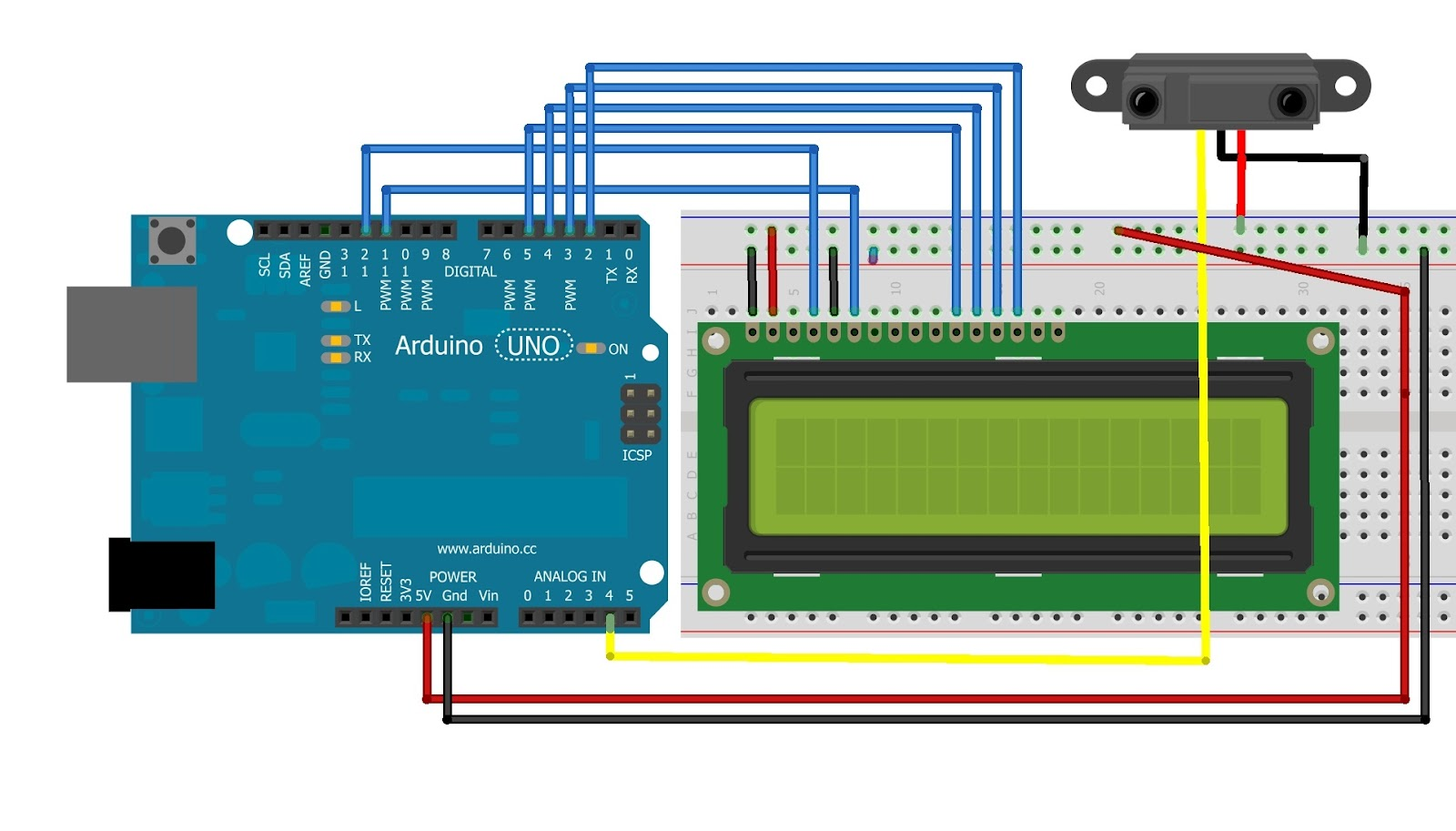 Arduino Project 7 - Connect an LCD module to an Arduino and Make a ...