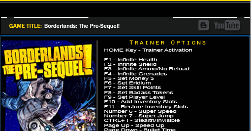 Borderlands Трейнер + - premiumreal Borderlands Pre Sequel Pc Trainer