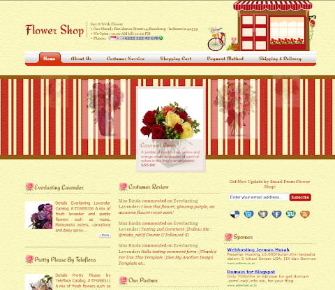 Flower Shop Blogger Theme