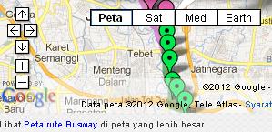 Peta Jakartaku-Peta halte dan Jalur Busway