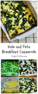 Kale and Feta Breakfast Casserole Recipe (Low-Carb, Gluten-Free) [from KalynsKitchen.com]