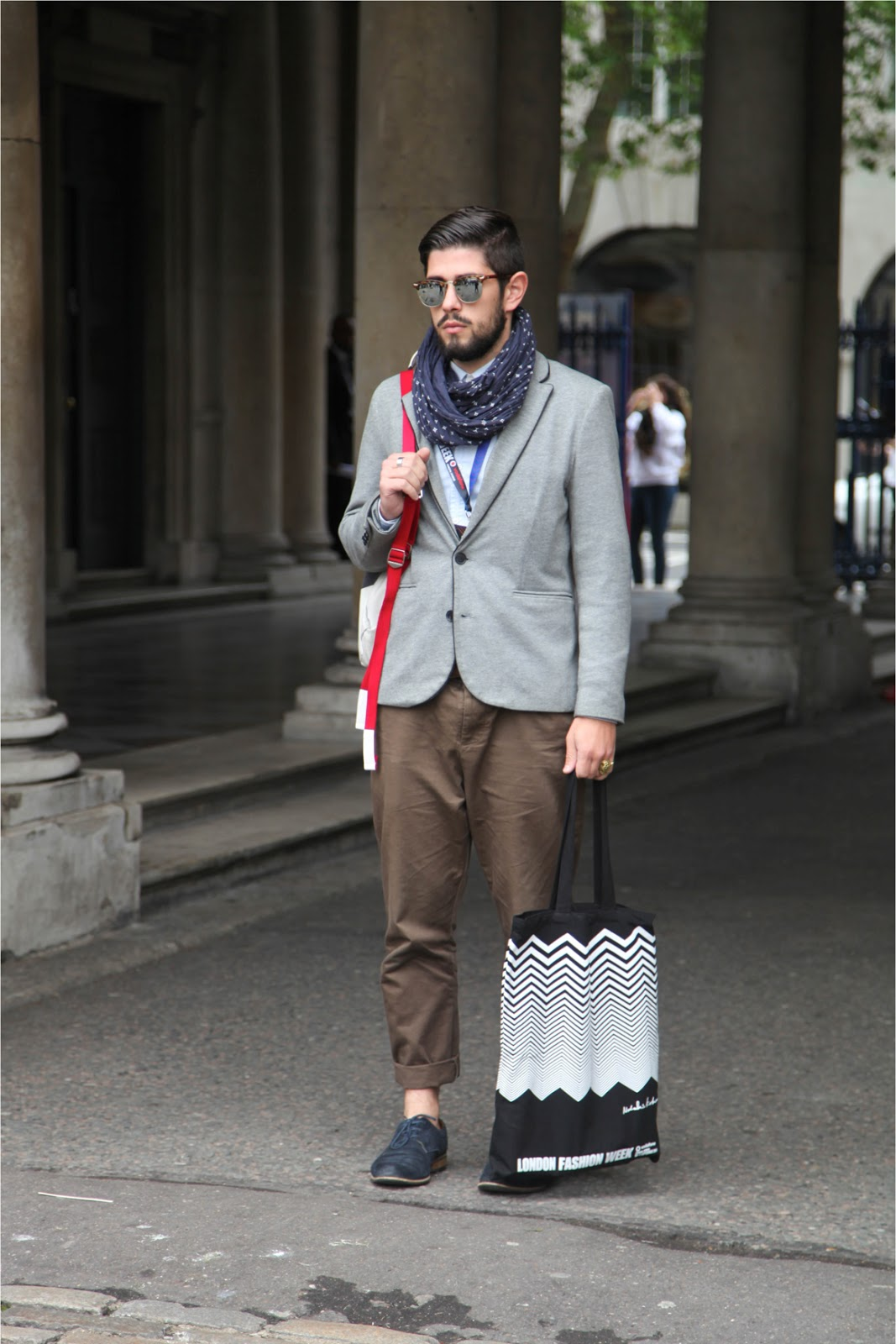 London Fashion Week street style euro mens style preppy blazer