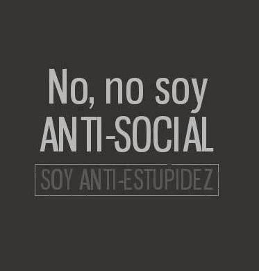 No, no soy Antisocial