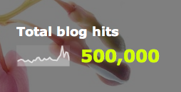 Reaching the half a million page view mark