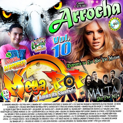 CD ARROCHA MEGA POP VOL 10      22/11/2014