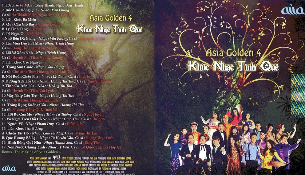 Asia Golden 4 - Khúc Nhạc Tình Quê