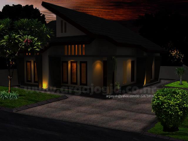 Desain Rumah Modern Minimalis Tropis by Argajogja