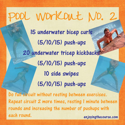 non-swimming pool workout