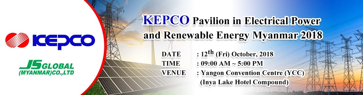KEPCO Pavilion in Electrical Power and Renewable Energy Myanmar 2018