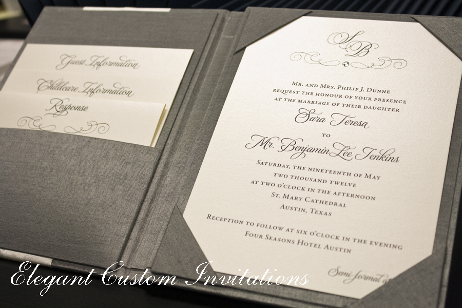 Couture wedding invitations isabella invitations ceremony programs sara wanted the programs kept very traditional so we used white card stock with silver ribbon stopboris Choice Image