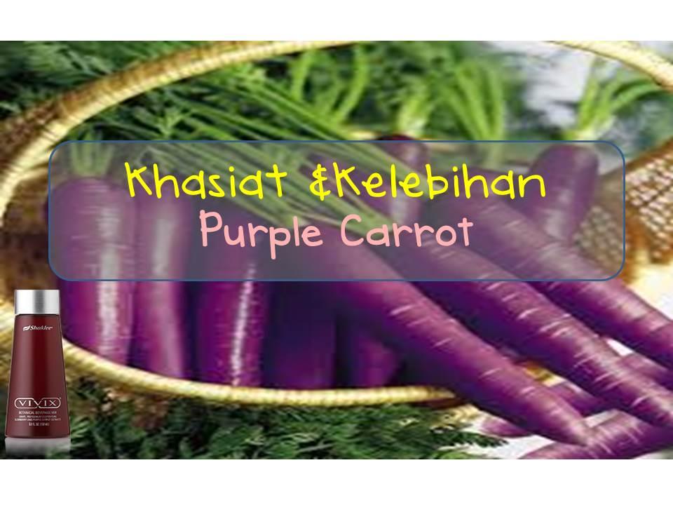 khasiat dan kelebihan lobak ungu (purple carrot) dalam vivix