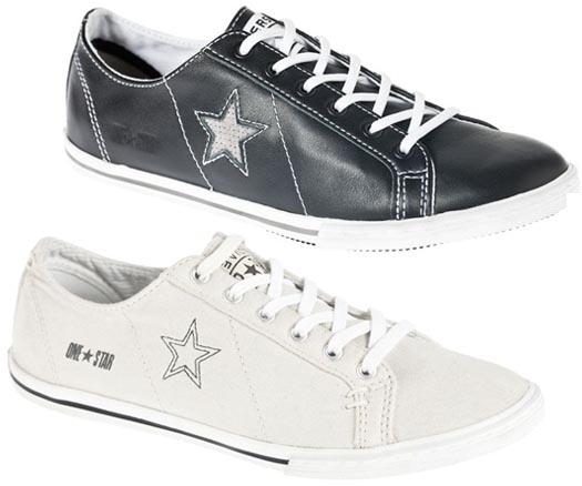 zapatos converse de cuero de mujer