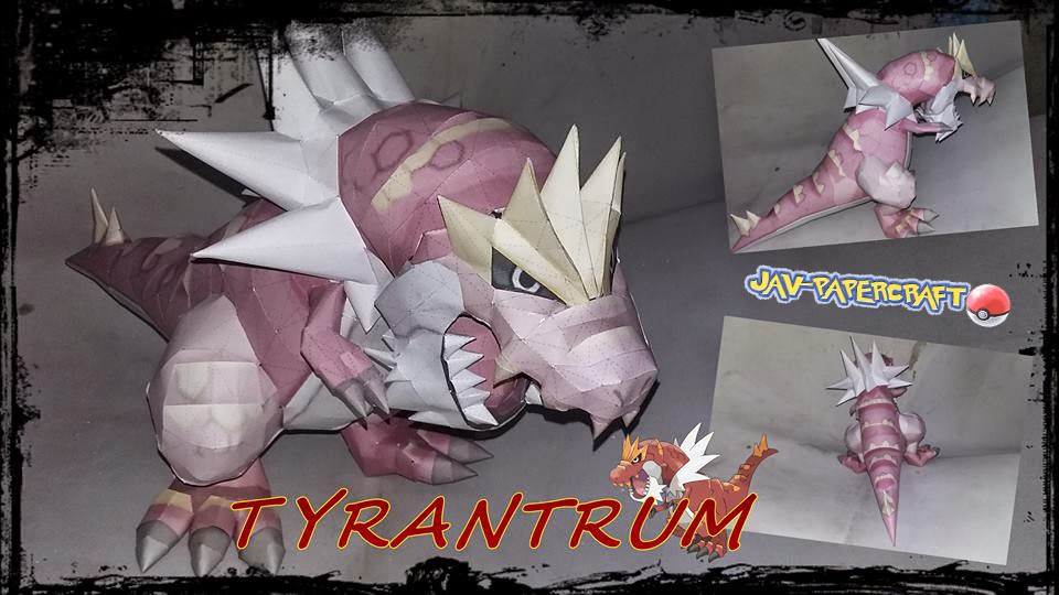 Tyrantrum Paper Model