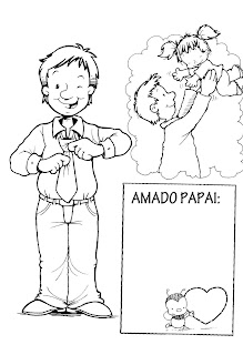 2 MODELOS DE CARTÃO PARA O DIA DOS PAIS - PARA COLORIR.