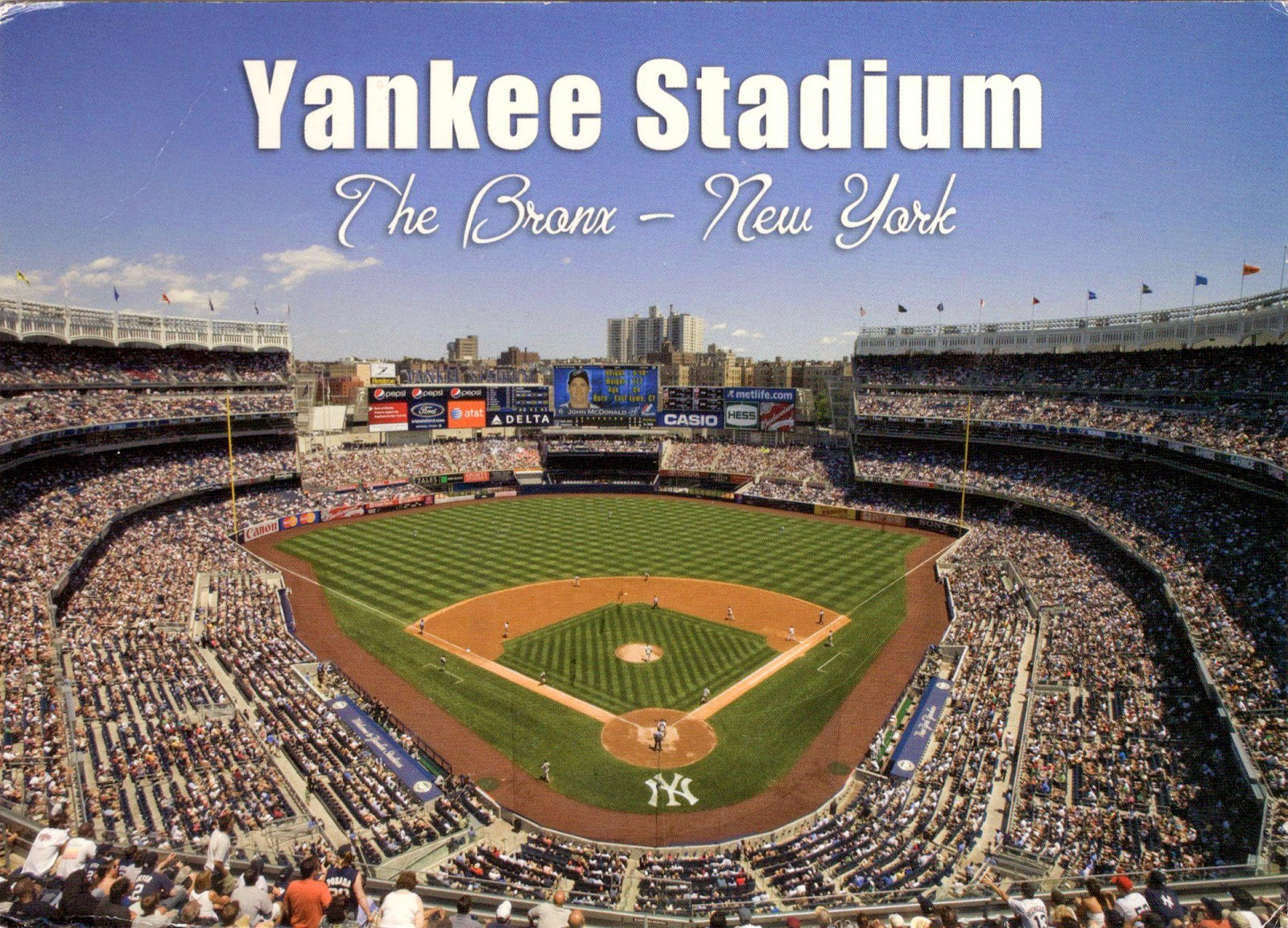 yankee stadium We went to see the nyy the stadium was clean and we had great seats my kids loved that we were able to order food on their app from our seats & have it delivered.