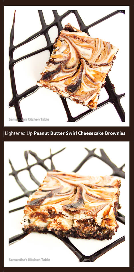 Peanut Butter Swirl Cheesecake Brownies