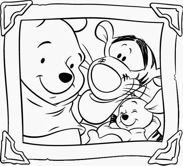 winnie the pooh coloring pages birthday - Pooh Bear Coloring Pages Birthday