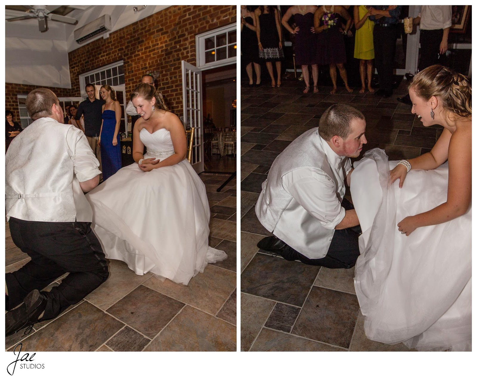 Jonathan and Julie, Bird cage, West Manor Estate, Wedding, Lynchburg, Virginia, Jae Studios, wedding dress, reception, garter toss, groom, bride