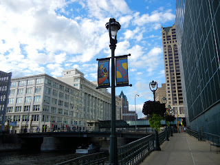 Riverwalk in downtown Milwaukee, Wisconsin