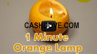 make a one minute lamp orange