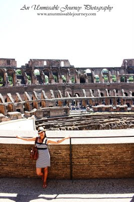 Travel Photos Marjolyn indulging the beauty of the Colosseum Rome Italy. ramblas barcelona