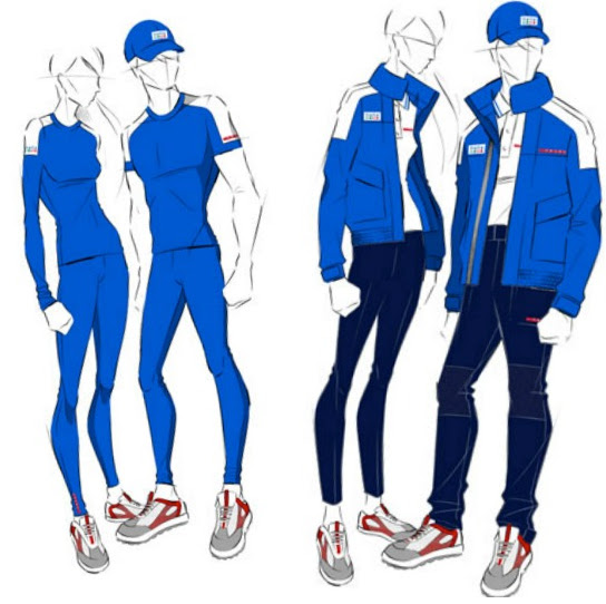 Italian olympic sailing team uniform by Prada